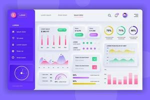 Admin panel neumorphic dashboard UI kit