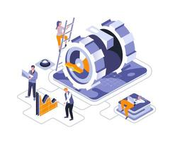 Business mechanism isometric design