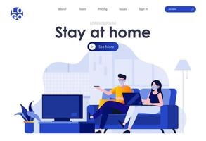 Stay at home landing page design
