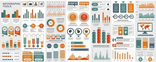 infografía, ui, ux, paquete de elementos del kit vector