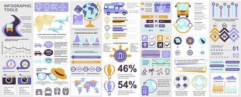 Infographic, UI, UX, KIT elements bundle vector