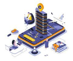 Booking isometric design