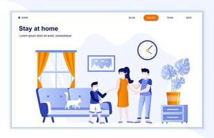 Stay at home flat landing page