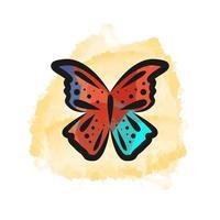 diseño de mariposa acuarela dibujada a mano vector