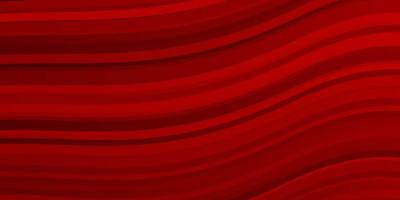 Dark red background with curved lines.