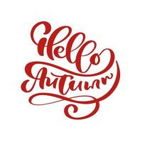 Hello Autumn lettering calligraphy text
