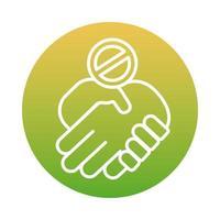 No handshake block style design vector