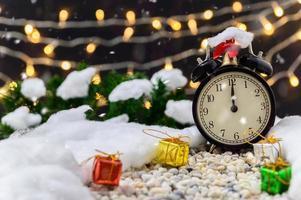 fondo de navidad con reloj