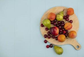 vista superior de la fruta