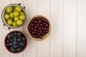 Top view of fresh fruit photo