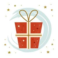 Merry Christmas gift vector