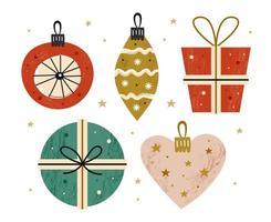 Christmas tree decor vector