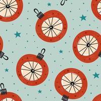 Cute Christmas tree decoration seamless pattern