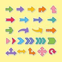 conjunto de flechas de colores vector