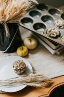 Healthy muffins on a table
