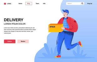 Delivery flat landing page composition