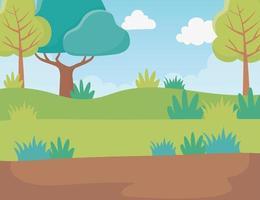 fondo de paisaje de dibujos animados