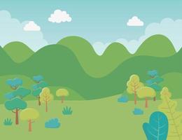 Cartoon landscape background vector