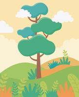 fondo de paisaje de dibujos animados vector