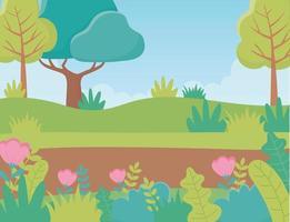 Cartoon landscape background