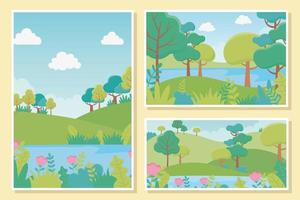 Landscape card set