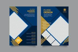 Annual report or flyer template with geometric shapes vector