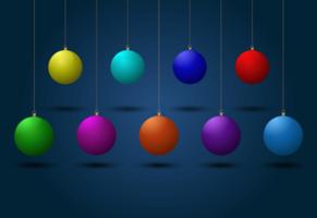 Colorful Christmas Balls vector