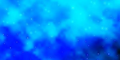 Blue template with neon stars.