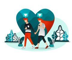 Millennial Love Story vector