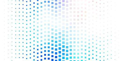 Light pink and blue background with squares