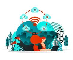 Internet of things to Share vector