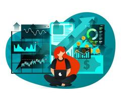 estudiar negocios con internet vector