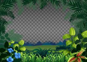 paisaje de escena de naturaleza en blanco sobre fondo transparente vector