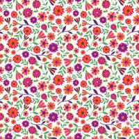 Seamless pattern with marigold flowers. vector