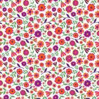 patrón sin fisuras con flores de caléndula. vector