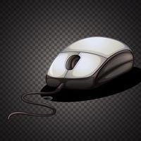 Isolated computer mouse on transparent background vector