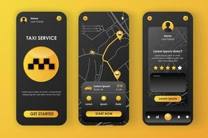 Taxi service, unique neomorphic design