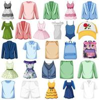 Set of fashion outfits vector
