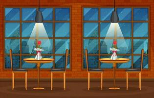 escena de fondo de pub y restaurante