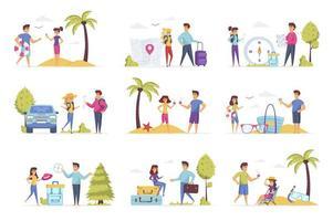 Travel vacation scenes bundle
