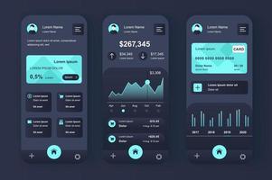 Finance services, unique neomorphic design kit vector