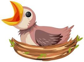personaje de dibujos animados de pollito hambriento