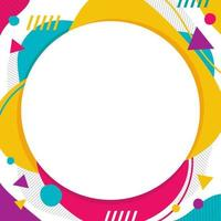 Abstract Modern Colourful Background with Circular Accent