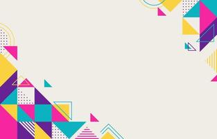 Geometric Abstract with Memphis Style Background