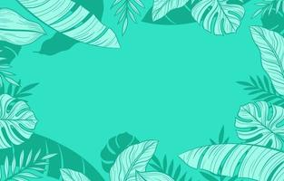 Decorative Mint Green Floral Background vector