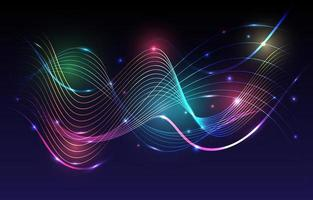 A Wave of Abstract Neon Spectrum Background