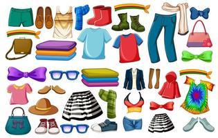 conjunto de trajes y accesorios de moda.