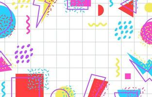 80s Abstract Geometric Background vector