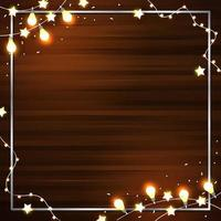 decoración de luces brillantes y hermosas vector