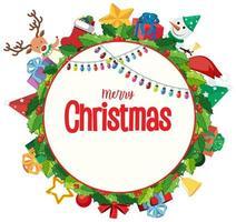 Blank Merry Christmas card template vector